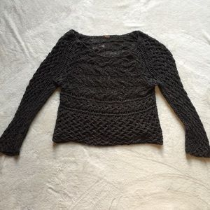 Free people dark gray sweater